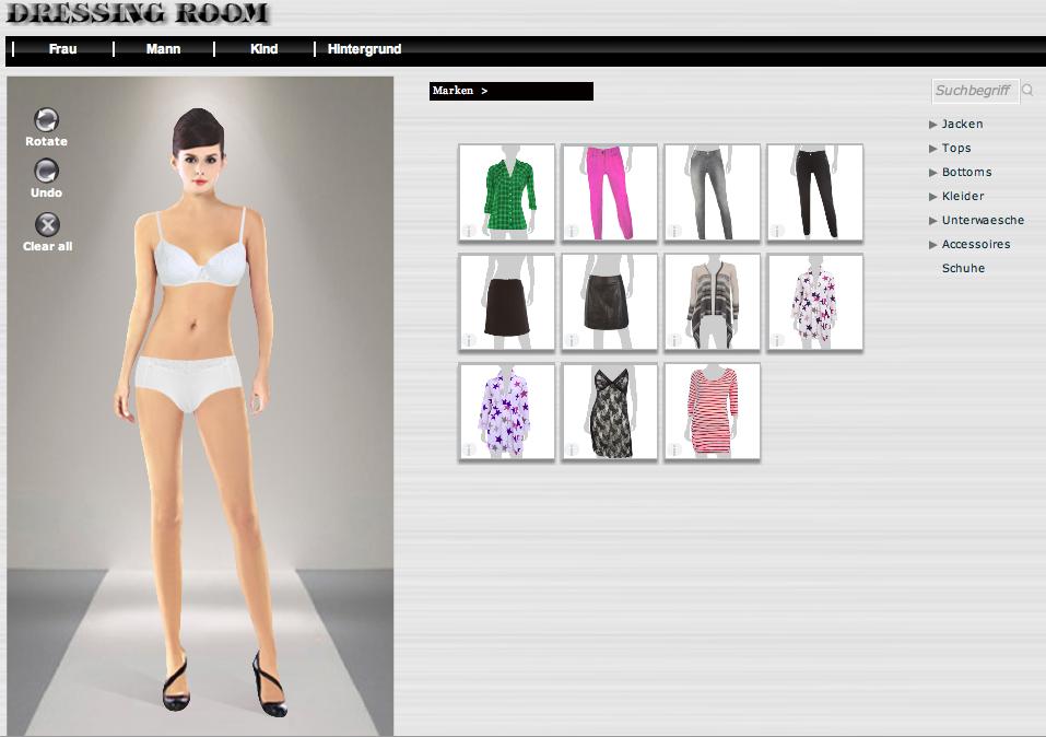 Kleider online erstellen